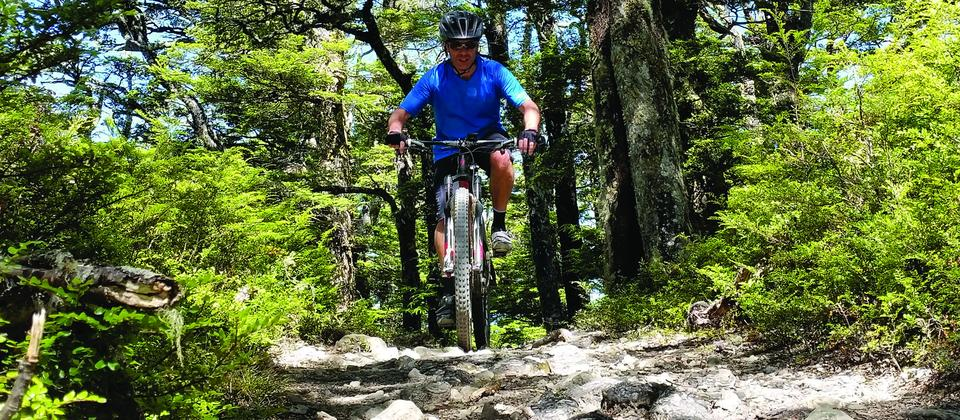 Mountain Biking the Blowhard track