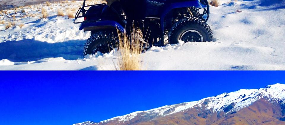 Horse trekking & Quad Biking up in the mountains of Cardrona Valley