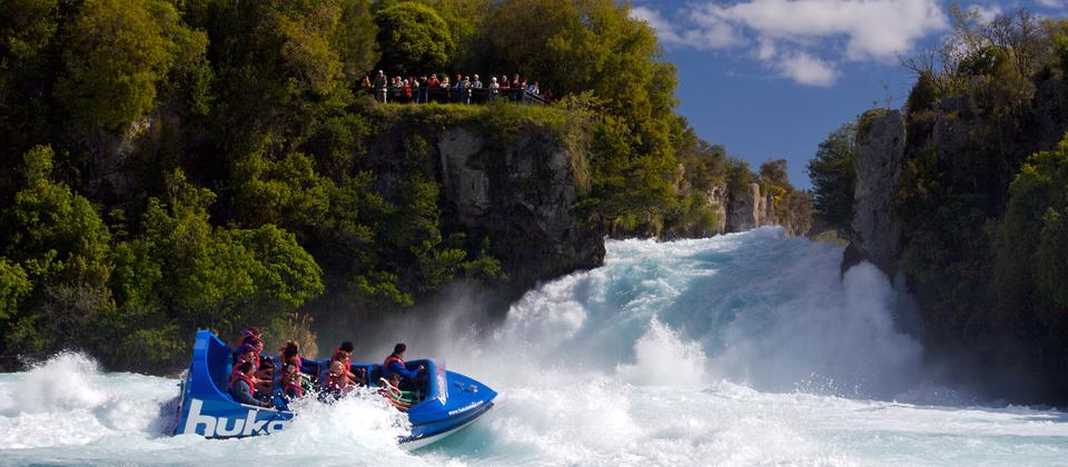 The mighty Huka Falls
