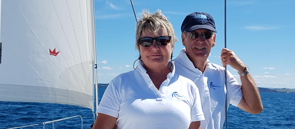 Ataahua Luxury Sailing New Zealand Owners & Hosts Ian & Fran Farrant.jpg