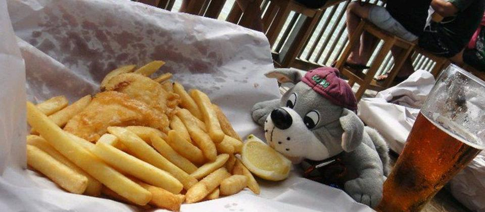 Fish and chips at the end of the day.