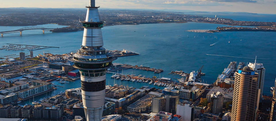 Venture up the Sky Tower for 360-degree views of Auckland