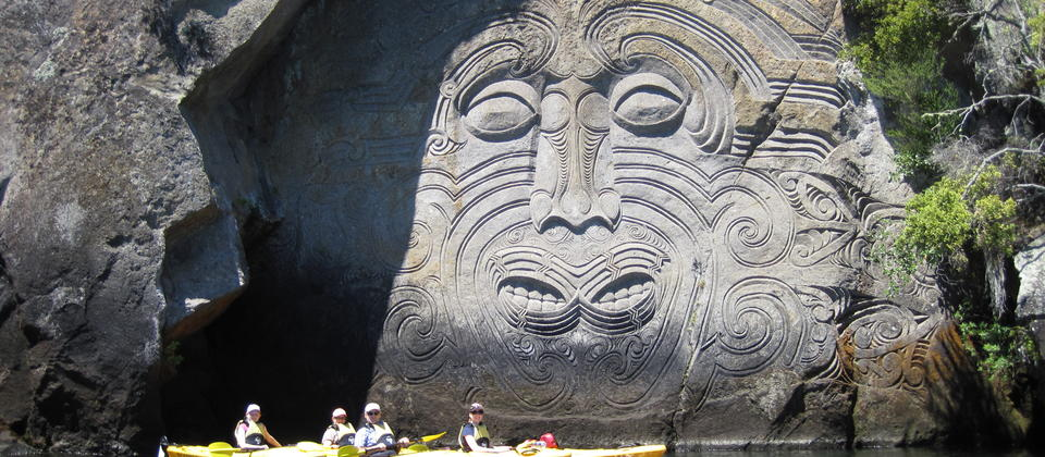 Kayaking to the Maori Rock Carvings - Anna.JPG