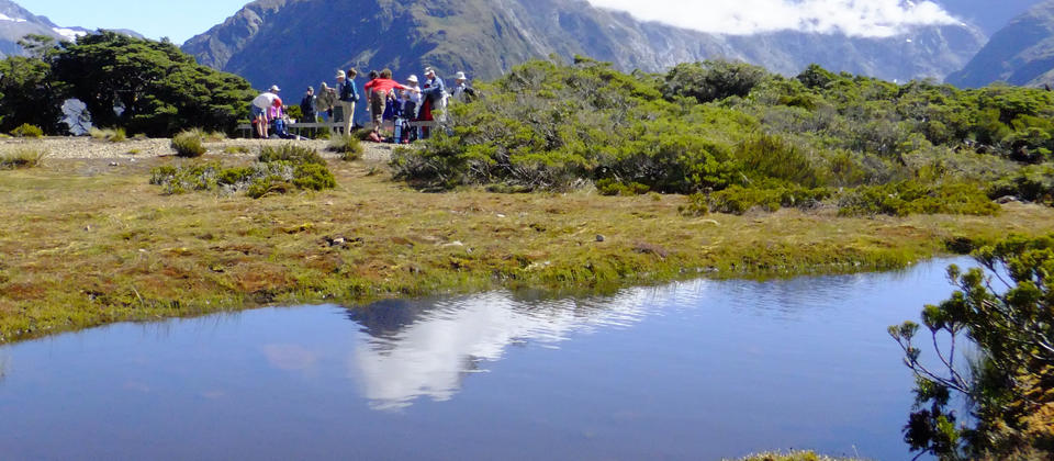 On top of the world at Key Summit on the Routeburn Track, an easygoing day hike