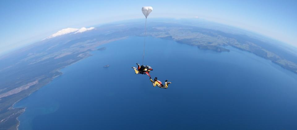 Skydiving above the Central Plateau