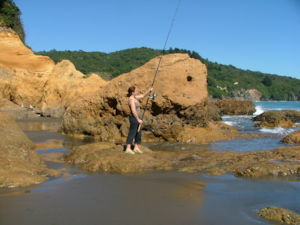 Surfcasting near Opotiki