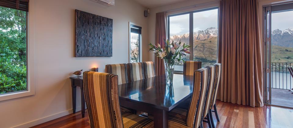 dining with a view towards the Remarkable mountain range