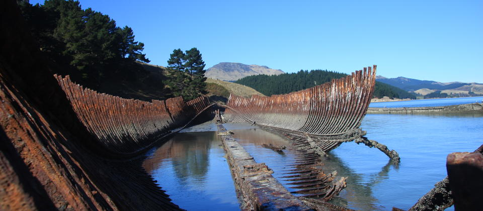 Old shipwreck on Quail Island