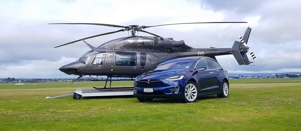 Bell 427 and Tesla Model X