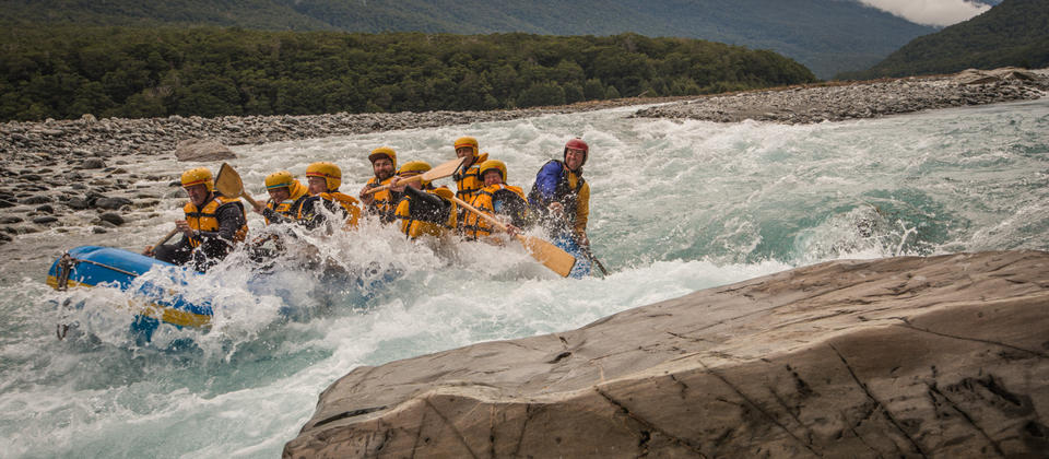 Rafting on the Landsborough Wilderness Experience