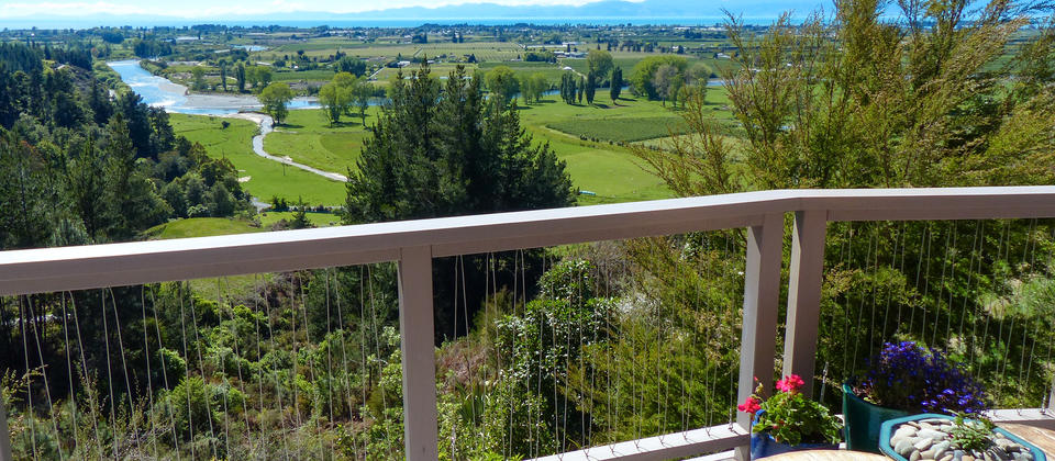 Motueka River and Tasman Bay View from Cottage