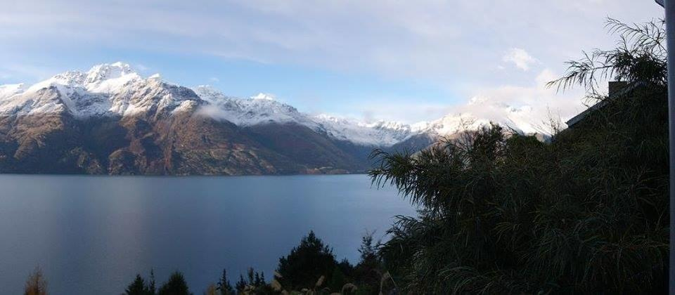 Room with a view of Lake Wakatipu at Cecil Peak in Queenstown, South Island