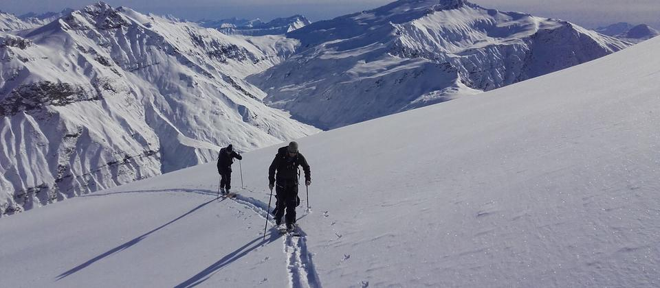 Ski touring the Treble Cone backcountry