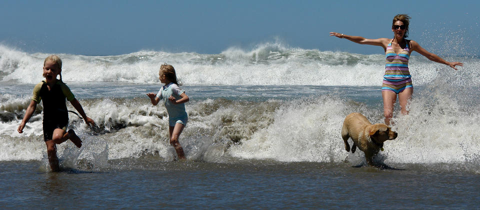 Fun at Waikuku Beach