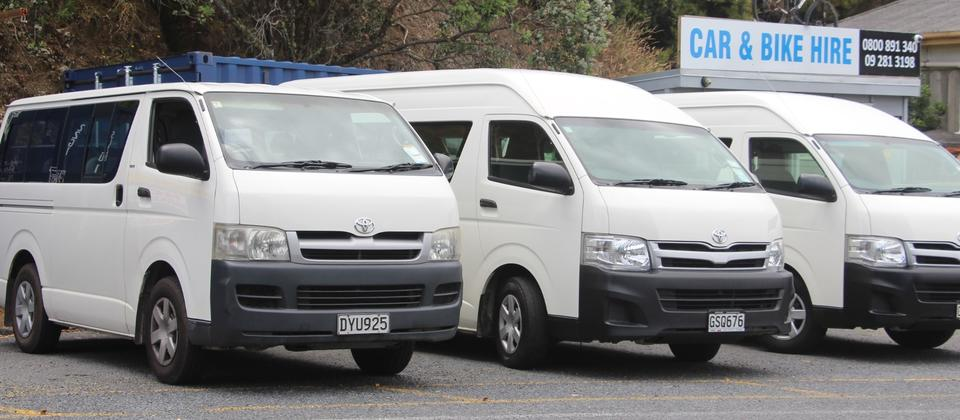 10/12 Seater Toyota HiAce Vans