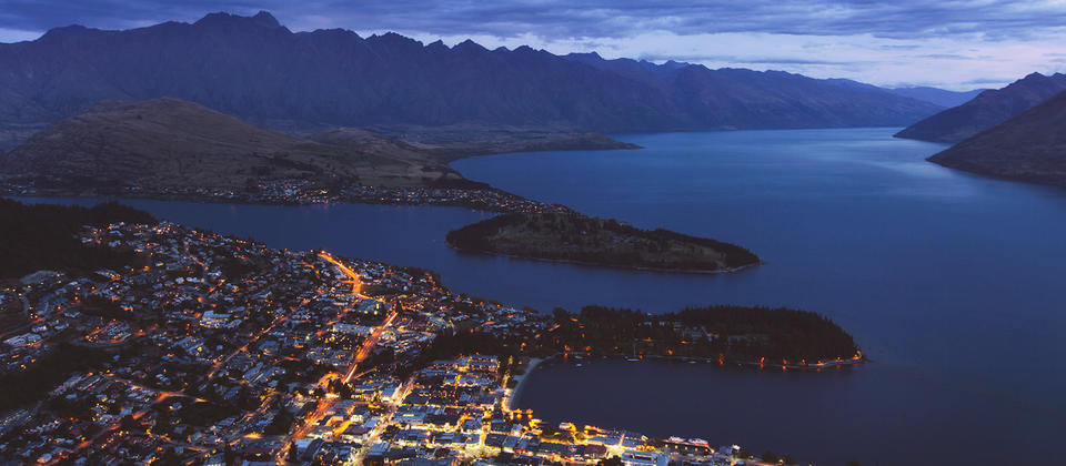 Night lights of Queenstown