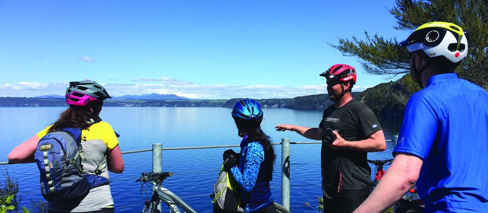 Guided bike tours around stunning Lake Taupo with Chris Jolly Outdoors