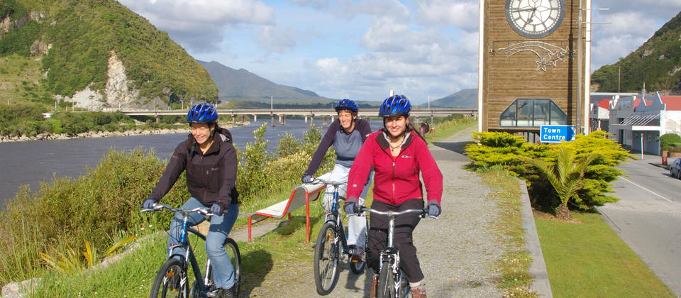 Day One: Departs from Greymouth. Its flat all the way with a smooth riding surface so you can concentrate on the scenery and enjoying your friends