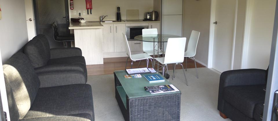 3 Bedroom Apartment, Living Area and Fully Equipped Kitchen