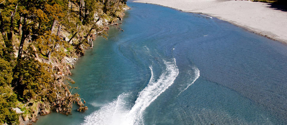 Jetboating at its best. Wilkin Valley Mt Aspiring National Park