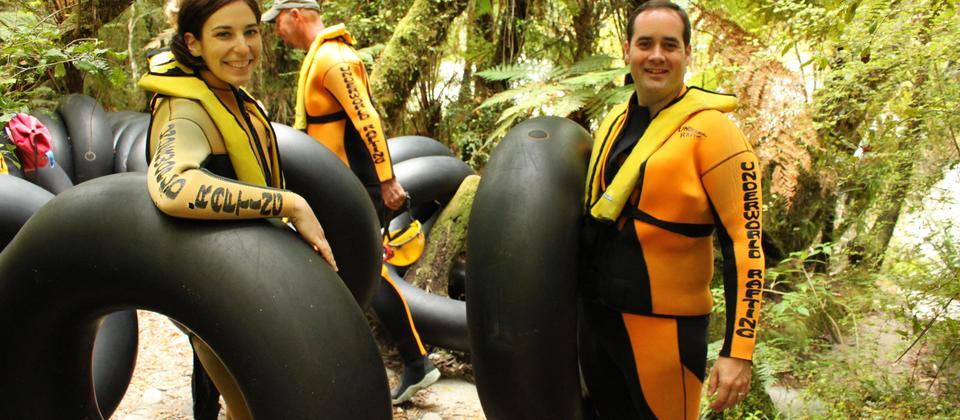 Cave Rafting on the West Coast