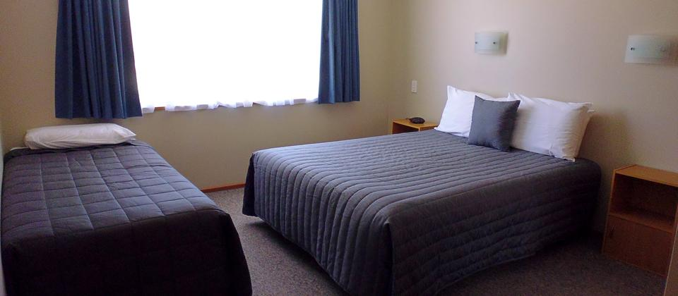 Two bedroom unit, bedroom area, queen.