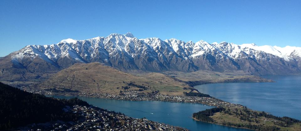 Iconic view of The Remarkables, Queenstown.