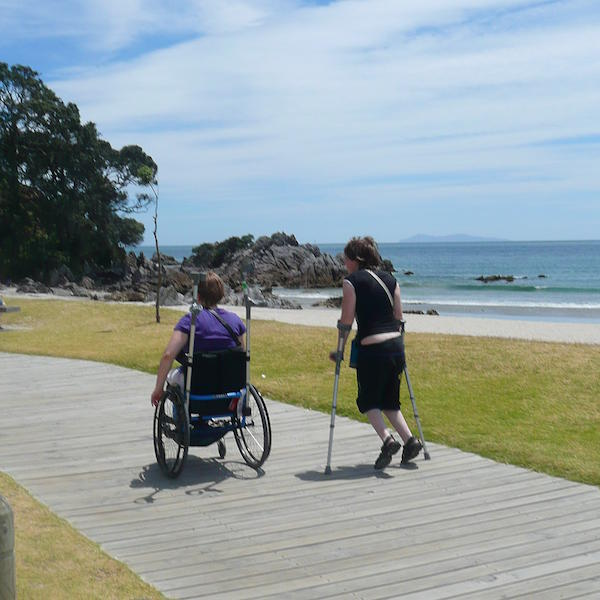 Accessible Boardwalks lining New Zealand beach