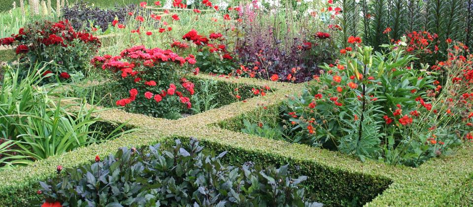 Red section of Knot Garden