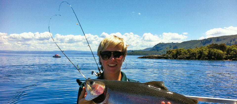 Trout fishing on Lake Taupo with Chris Jolly Outdoors
