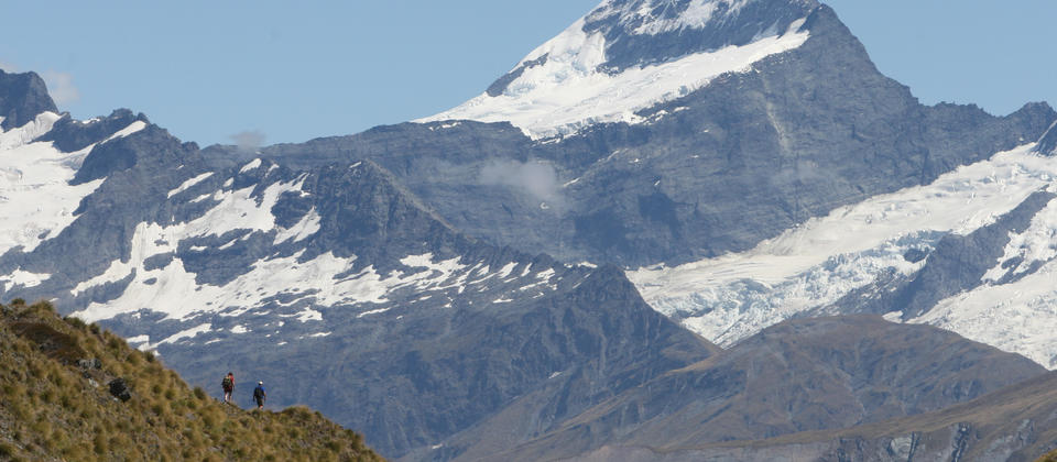Hike along spectacular ridge lines with outstanding views of Mt Aspiring National Park.