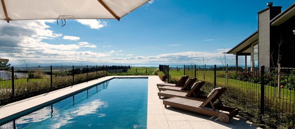 Millar Road, Hawke's Bay - View from pool bar