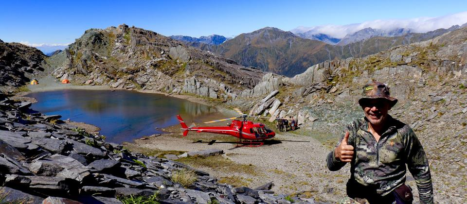 Precision helicopters Hokitika, helicopter hunting.