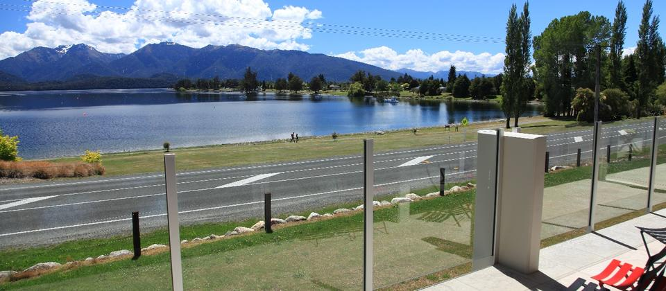 View from Marakura Lakeview Motels, Lake Te Anau