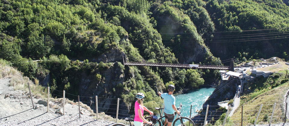 The Kawarau Bungy Bridge on the Queenstown Trail