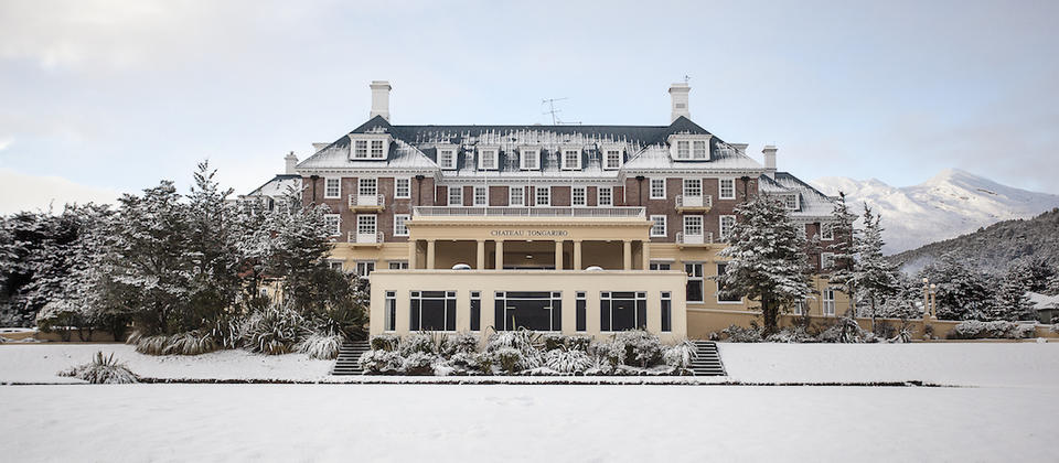 Chateau Tongariro Hotel during Winter