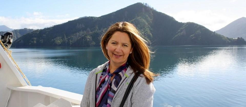 Jane Turner on Interislander Ferry during my visit - May 2012.