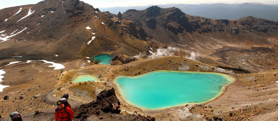 The stunning Emerald Lakes