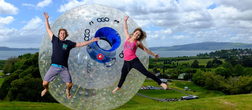 ZORB - roll downhill in a giant inflatable ball