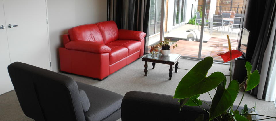 Open Plan Living with 2 single sofa beds