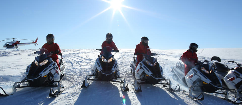 Enjoy an hour and a half riding your own snowmobile