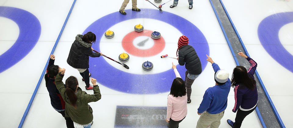 Curling is a great group activity for all ages and abilities.