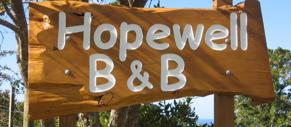 Hopewell B&B Sign