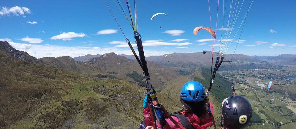Tandem Paragliding from Coronet Peak, Queenstown