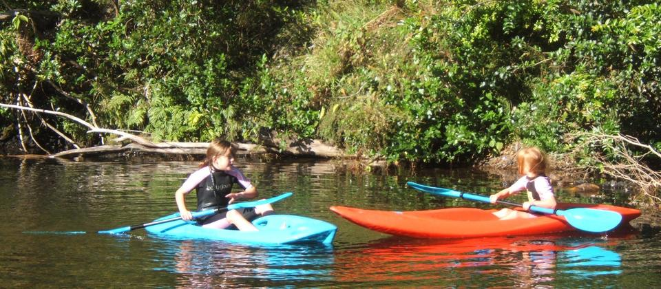 We offer a range of kayaks for children to adults - provided free of charge (fire jackets, too)