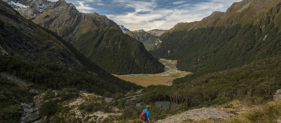 Routeburn Flats, final day of the Grand Traverse with Ultimate Hikes