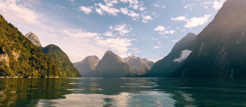 The majestic waters of Milford Sound