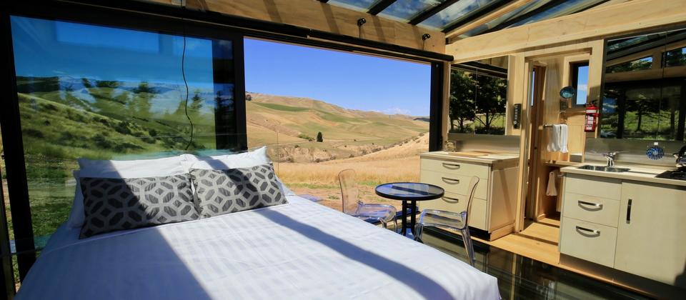Greystone PurePod, 360 degrees of stunning views, hidden high above a beautiful organic winery