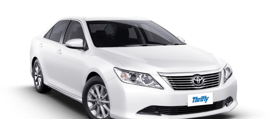 Thrifty Car Rental Toyota Aurion FCAR (or similar). 5 star ANCAP safety rated.