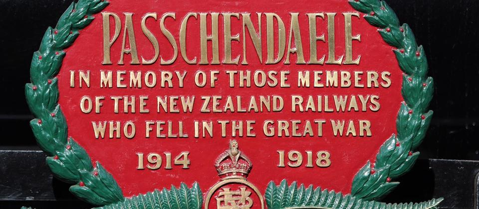 Ab608 Passchendaele Memorial Plaque.